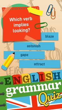 English Grammar Practice Test Quiz poster