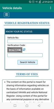 VAHAN -Vehicle Registration details screenshot 1