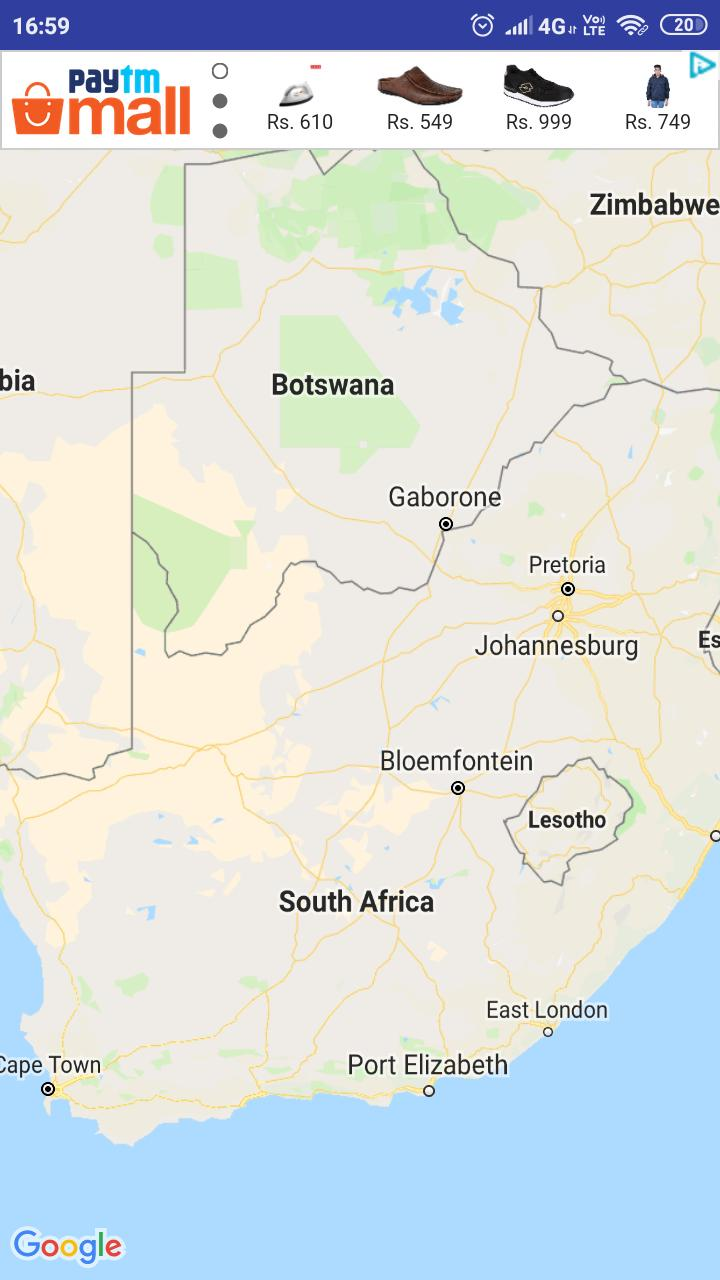 Bloemfontein South Africa Map.South Africa Map For Android Apk Download