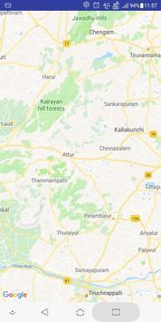 Tamil Nadu Map poster