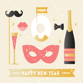 Happy New Year Wishes Greetings Maker Photo Frames icon