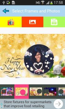 Happy New Year Wishes Greetings Maker Photo Frames screenshot 1
