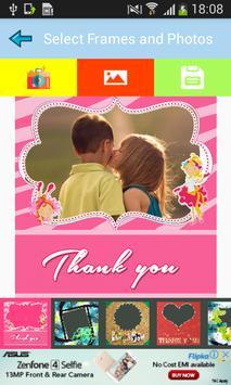 Thank You Photo Frames Make Thanks Card screenshot 1