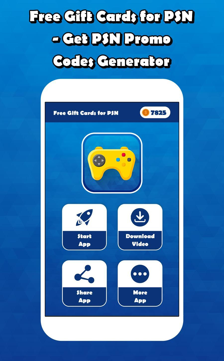 Free Gift Cards For PSN - Promo Codes & Gift Cards for Android