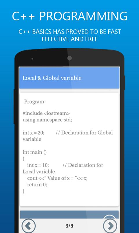 c programming software for android phone free download