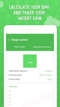 Pregnancy tracker: calendar with contraction timer screenshot 2