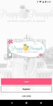 Preppy Pineapple poster