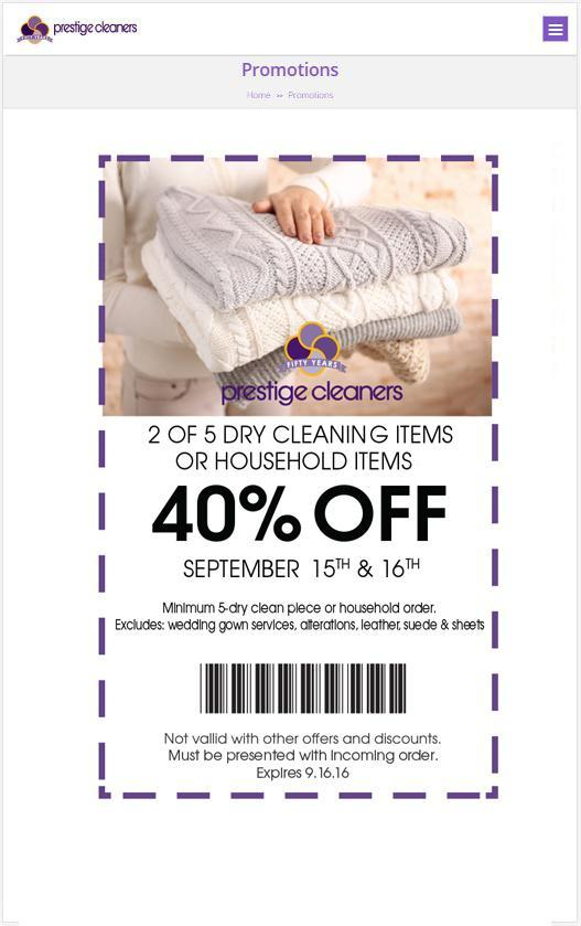 Prestige Cleaners poster