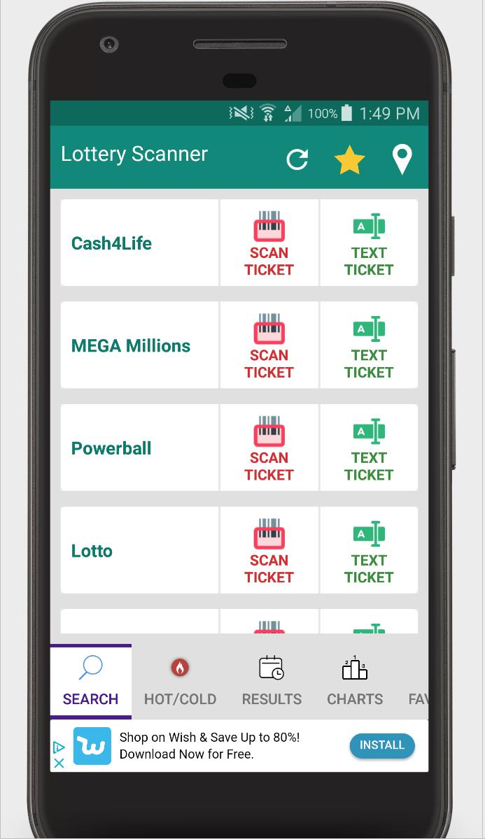 Lottery Ticket Scanner - Lotto Results Checker for Android - APK