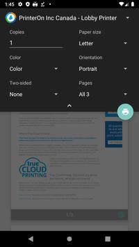 PrinterOn स्क्रीनशॉट 1