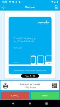 PrinterOn स्क्रीनशॉट 3