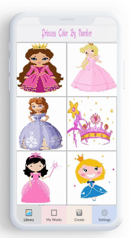 Android Için Sayıya Göre Prenses Renk Prenses Boyama Oyunu Apkyı