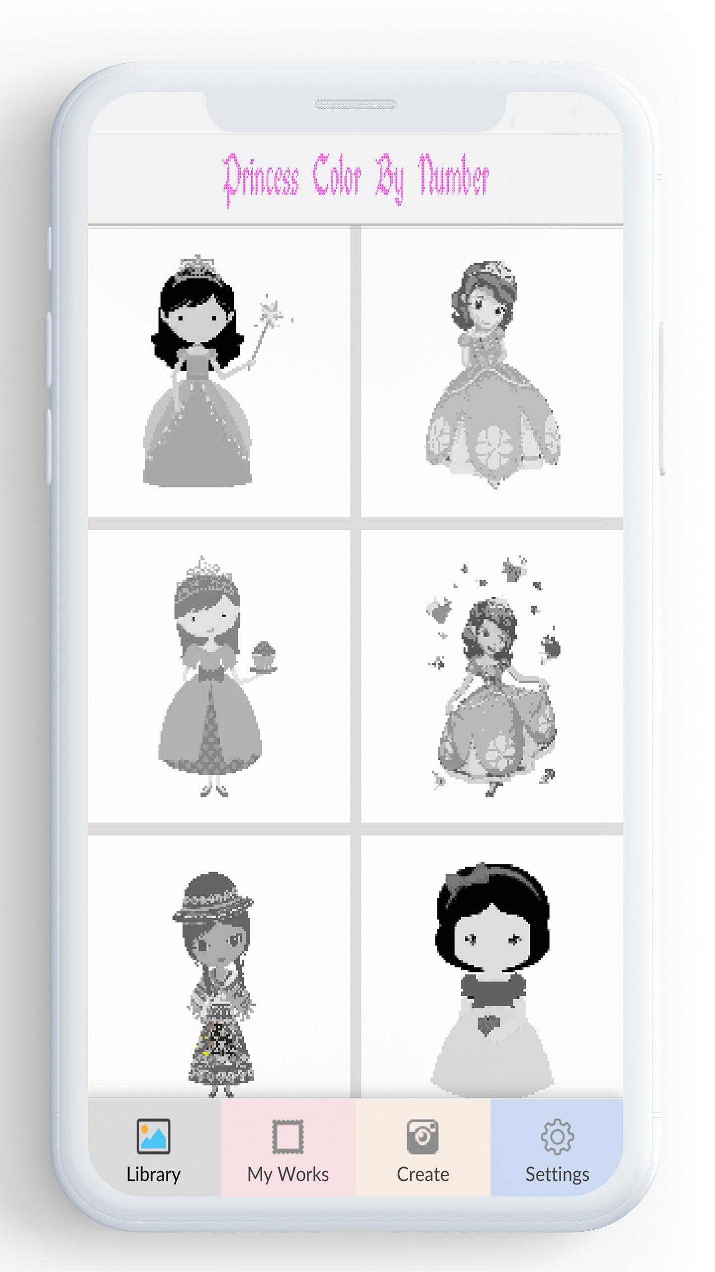 Android Icin Sayiya Gore Prenses Renk Prenses Boyama Oyunu Apk