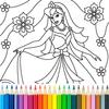 Prinzessin malen für Kinder Zeichen