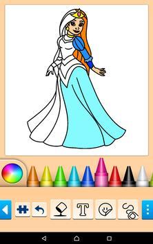 Princess Coloring Game screenshot 1