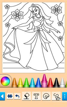 Princess Coloring Game screenshot 3