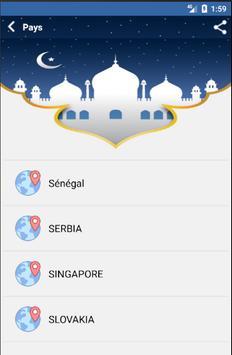 Les Horaires de Prière screenshot 2