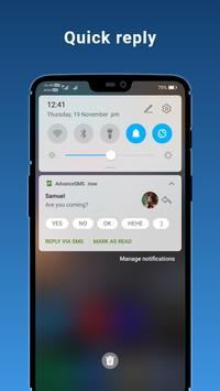 2 Schermata Advance SMS