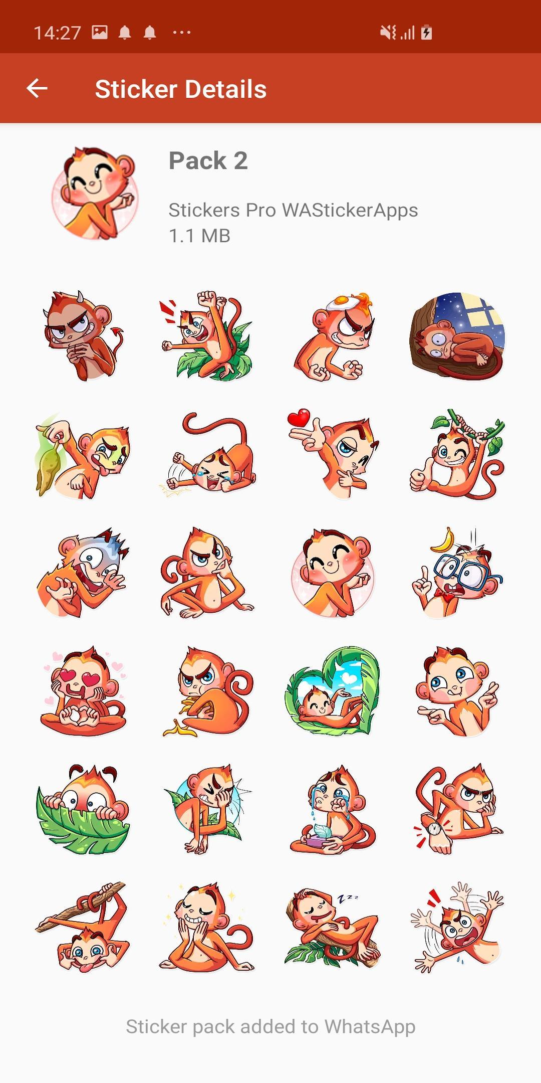 Android Icin Yeni Komik Maymunlar Cikartmalar Wastickerapps Apk Yi Indir