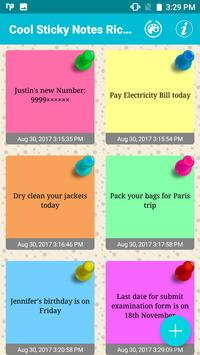 Cool Sticky Notes Rich notepad Text Reminder Chits screenshot 5