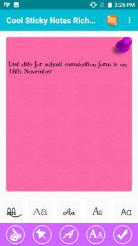 Cool Sticky Notes Rich notepad Text Reminder Chits screenshot 7