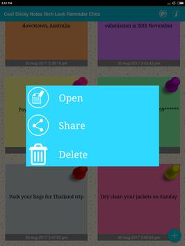 Cool Sticky Notes Rich notepad Text Reminder Chits screenshot 11