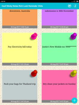 Cool Sticky Notes Rich notepad Text Reminder Chits screenshot 15