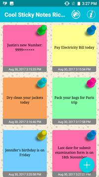 Cool Sticky Notes Rich notepad Text Reminder Chits screenshot 1