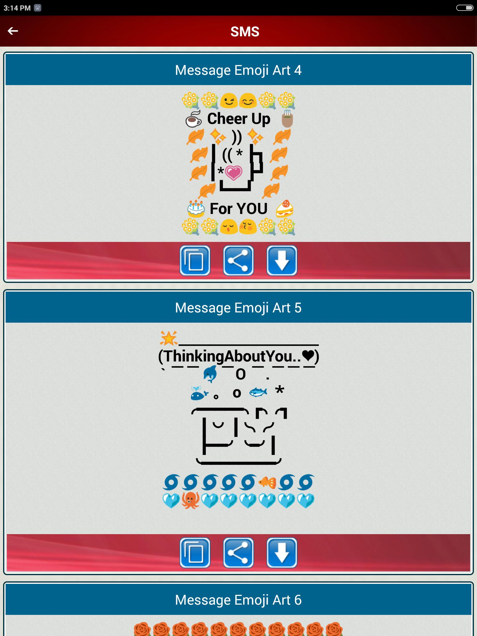 Cool Emoji Art Sharing Cute Designs Copy Paste For Android