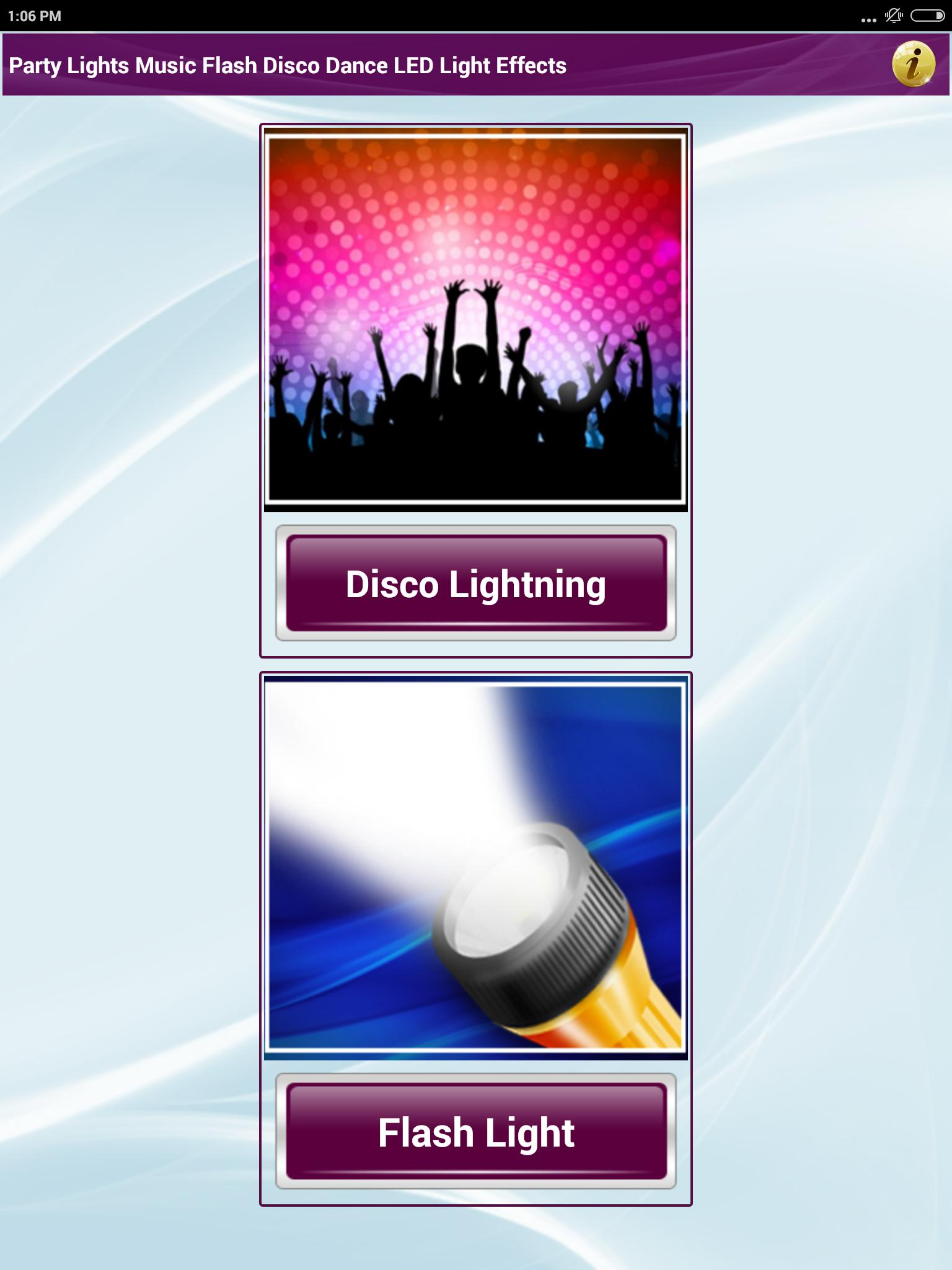 Party Dance Lights Music & Flash Disco LED Light for Android