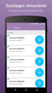 Sondages rémunérés - Swagbucks capture d'écran 1
