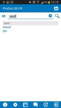 German - French dictionary screenshot 1