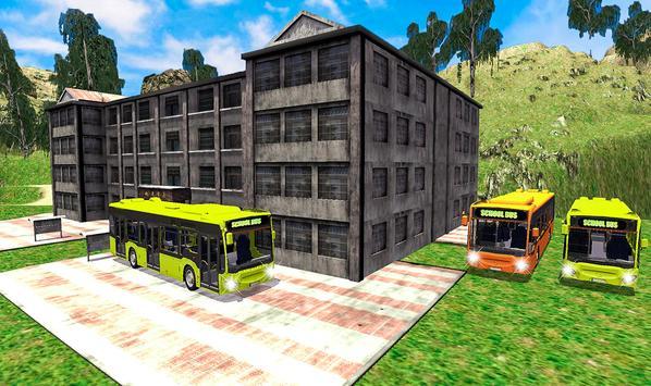 Offroad School Bus Coach Driving Simulator 2020 screenshot 4