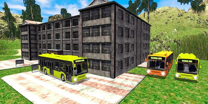 Offroad School Bus Coach Driving Simulator 2020 poster