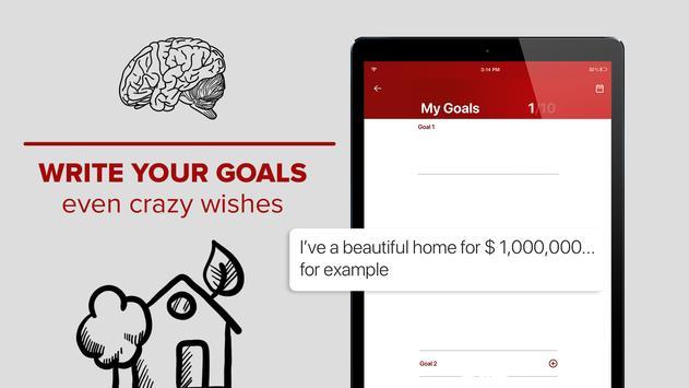 Millionaire Habits – daily visualization of goals スクリーンショット 2