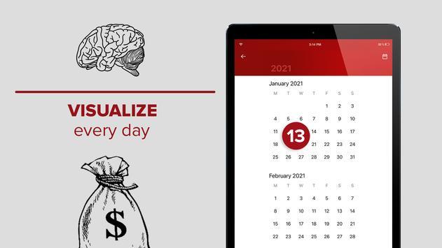 Millionaire Habits – daily visualization of goals スクリーンショット 3