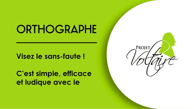 Orthographe Projet Voltaire poster