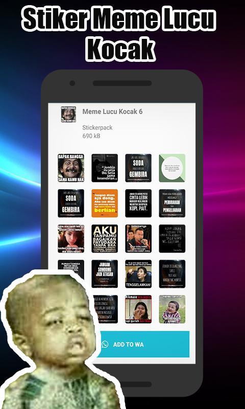 Stiker Wa Meme Lucu Kocak Wastickersapp For Android Apk Download