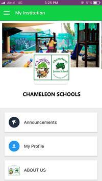 Chameleon Schools Mobile App poster
