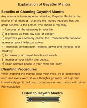 Gayathri Mantra Guide screenshot 1