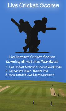 Live Cricket Scores Worldwide poster
