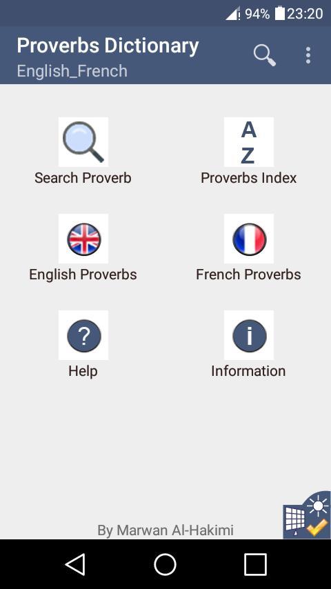 Dictionnaire Des Proverbes Anglais Francais Pour Android Telechargez L Apk