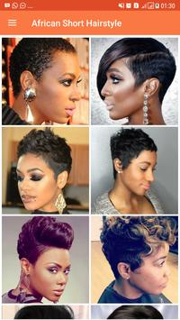 African Short Hairstyle screenshot 1