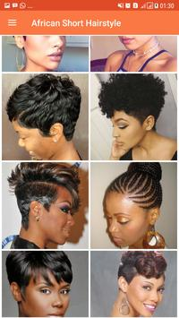 African Short Hairstyle screenshot 2
