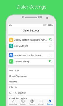 i Dialer OS 10 - Contact Book скриншот 3