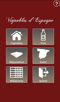 Vignobles de l'Espagne - Vins Affiche