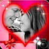 ロマンチックな愛のフォトフレーム アイコン