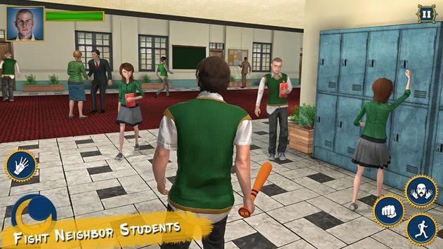 Real High School Fighting - Gangster Crime Sim 3D poster