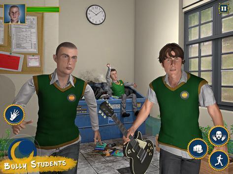 Real High School Fighting - Gangster Crime Sim 3D screenshot 20