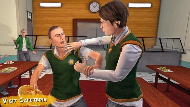 Real High School Fighting - Gangster Crime Sim 3D screenshot 2